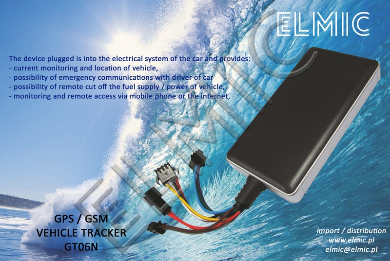 GPS VEHICLE TRACKER GT06N | www elmic pl - english version