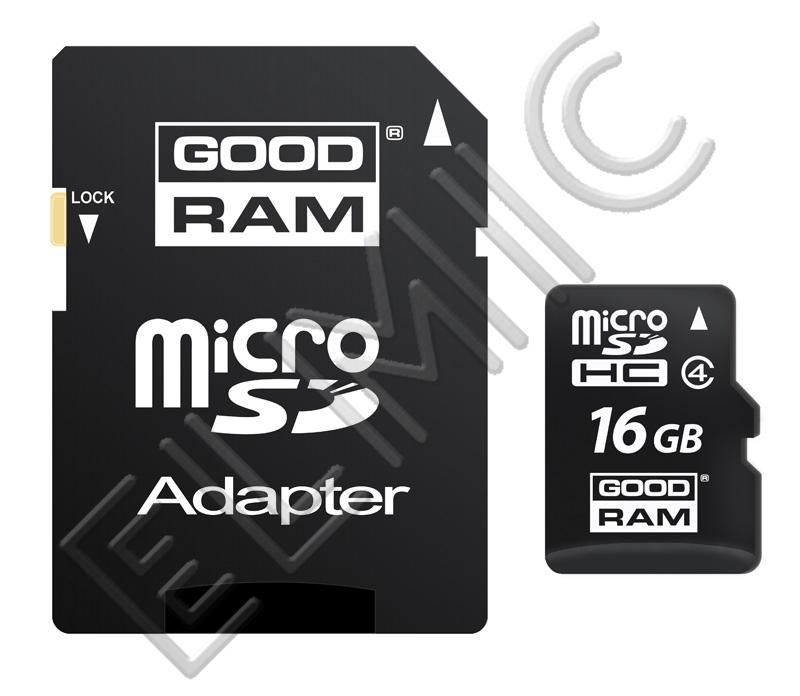 Karta pamięci GOODRAM microSD 16 GB z adapterem