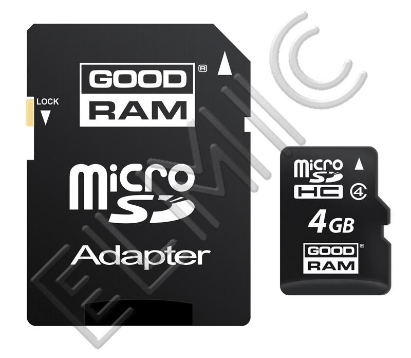Karta pamięci GOODRAM microSD 4 GB z adapterem